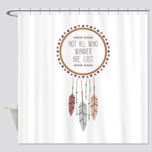 Feathers Wander Shower Curtain