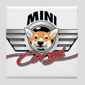 Mini Corgi Club Tile Coaster