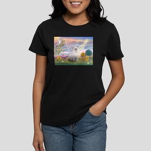 Cloud Angel & Ragdoll Women's Dark T-Shirt