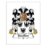 Bouillon Family Crest Small Poster