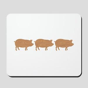 Wooden Pig Border Mousepad