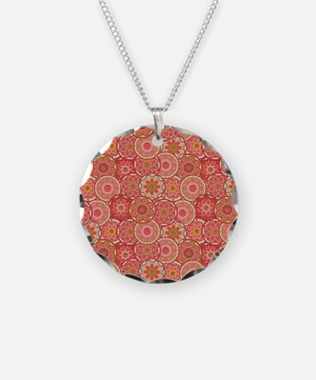 Pretty Pink Paisley Pattern Necklace
