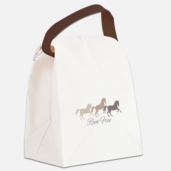 Wild Horses Running Free Canvas Lunch Bag