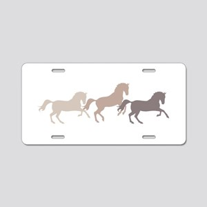 Wild Horses Running Aluminum License Plate