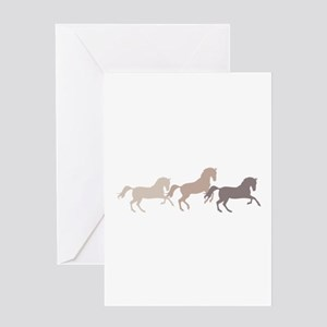 Wild Horses Running Greeting Cards