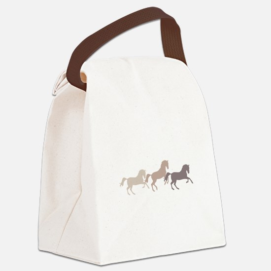 Wild Horses Running Canvas Lunch Bag