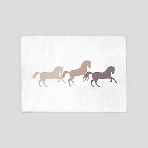Wild Horses Running 5'x7'Area Rug