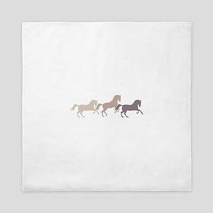 Wild Horses Running Queen Duvet