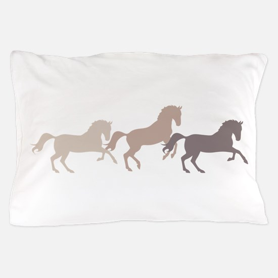 Wild Horses Running Pillow Case
