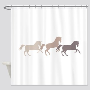 Wild Horses Running Shower Curtain