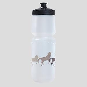 Wild Horses Running Sports Bottle
