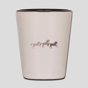 Wild Horses Running Shot Glass