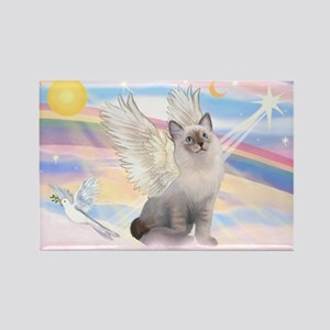 Ragdoll (#1) cat Angel Rectangle Magnet