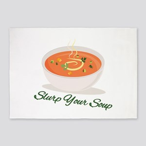 Slurp Your Soup 5'x7'Area Rug