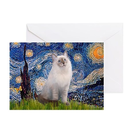 Starry Night Ragdoll Greeting Cards (Pk of 20)