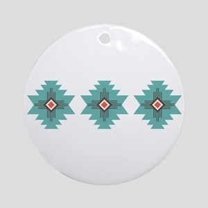 Southwest Native Border Ornament (Round)