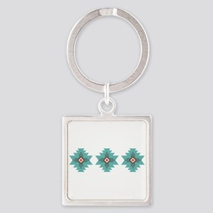 Southwest Native Border Keychains