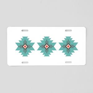 Southwest Native Border Aluminum License Plate