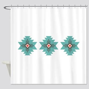 Southwest Native Border Shower Curtain