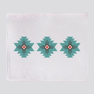 Southwest Native Border Throw Blanket