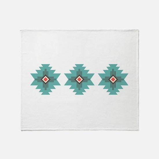 Southwest Native Border Throw Blanket