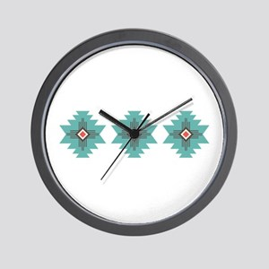 Southwest Native Border Wall Clock