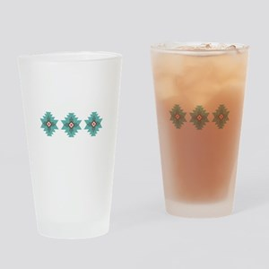 Southwest Native Border Drinking Glass