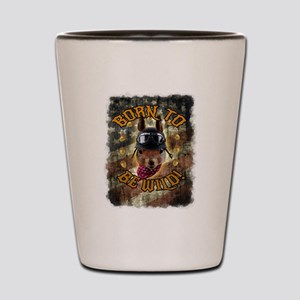 Squirrel Art - Born To Be Wild Shot Glass
