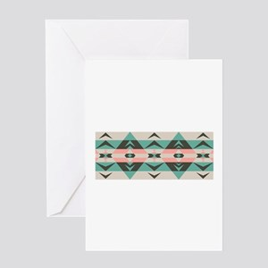 Southwest Native Border Greeting Cards