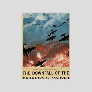 WW2 Propaganda Poster - Downfall of 5'x7'Area Rug