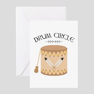 Native American Tribal Drum Circle Greeting Cards