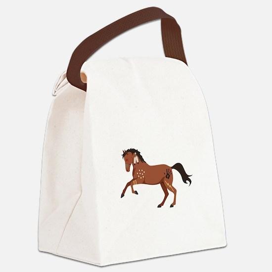 Native American War Horse Canvas Lunch Bag