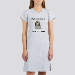 Personalized Shih Tzu Women's Nightshirt