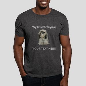 Personalized Shih Tzu Dark T-Shirt
