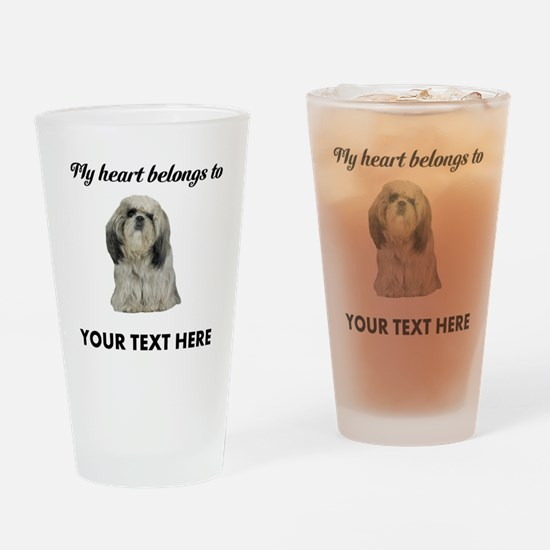 Personalized Shih Tzu Drinking Glass