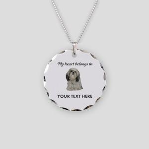 Personalized Shih Tzu Necklace Circle Charm