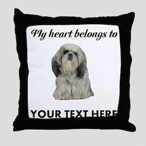 Personalized Shih Tzu Throw Pillow