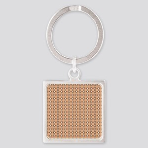 Female Breast Abstract 3 Square Keychain