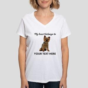 Silky Terrier Women's V-Neck T-Shirt