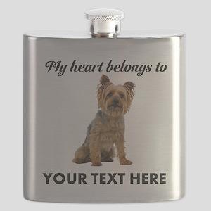 Silky Terrier Flask