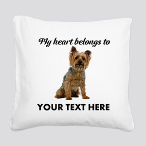 Silky Terrier Square Canvas Pillow