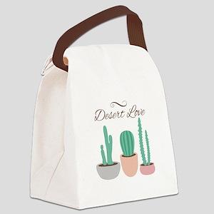 Potted Cactus Desert Plants Love Canvas Lunch Bag