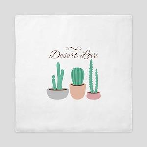 Potted Cactus Desert Plants Love Queen Duvet