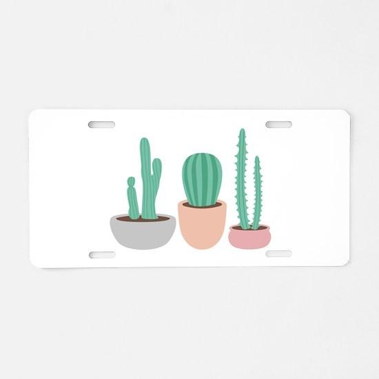 Potted Cactus Desert Plants Aluminum License Plate
