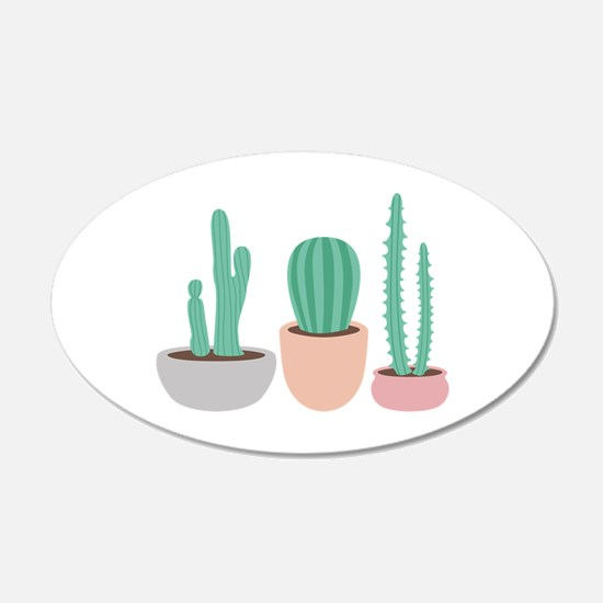 Potted Cactus Desert Plants Wall Decal
