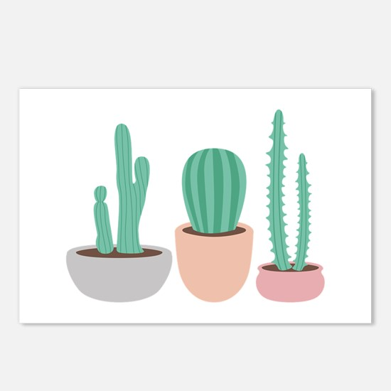 Potted Cactus Desert Plants Postcards (Package of