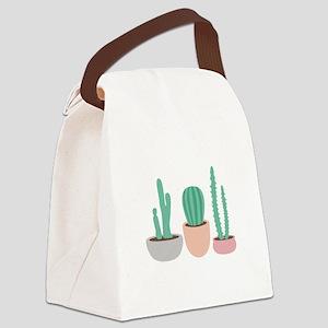 Potted Cactus Desert Plants Canvas Lunch Bag