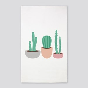 Potted Cactus Desert Plants Area Rug