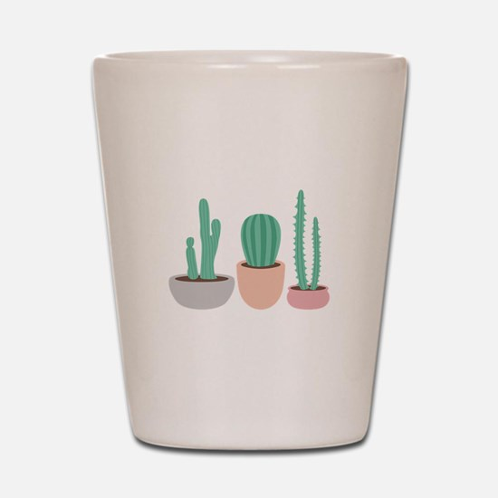 Potted Cactus Desert Plants Shot Glass