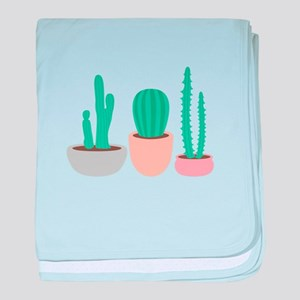 Potted Cactus Desert Plants baby blanket